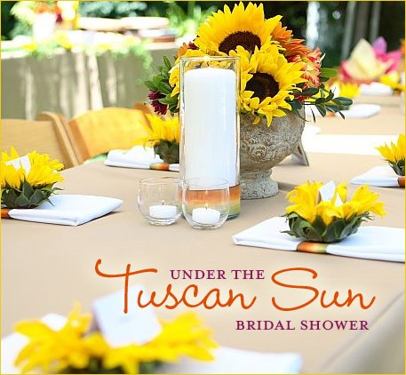 Italian sunflower bridal shower theme