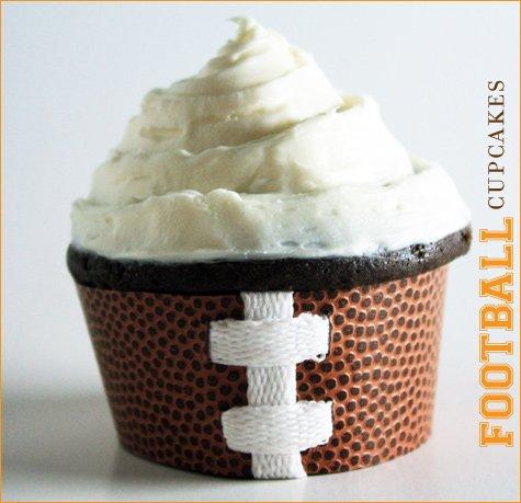 super bowl football cupcake recipe