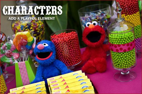 Colorful Sesame Street Candy Buffet Hostess With The Mostess