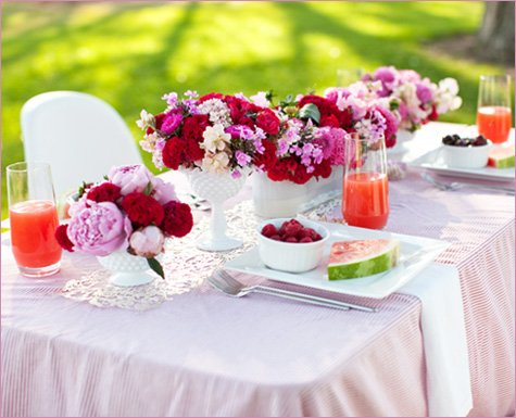Pink and Red Party Wedding Ideas