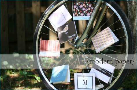 three wheels design modern stationery