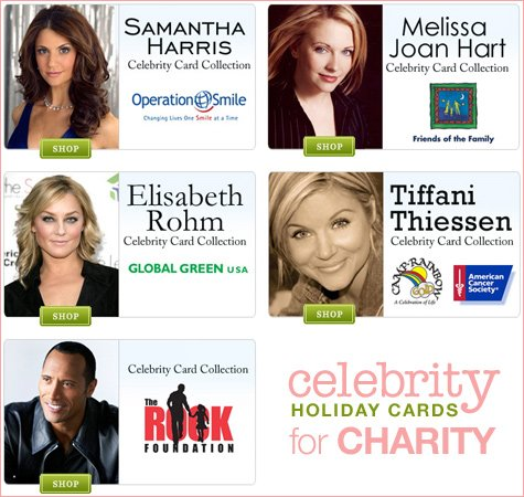 celebrity holiday cards charity