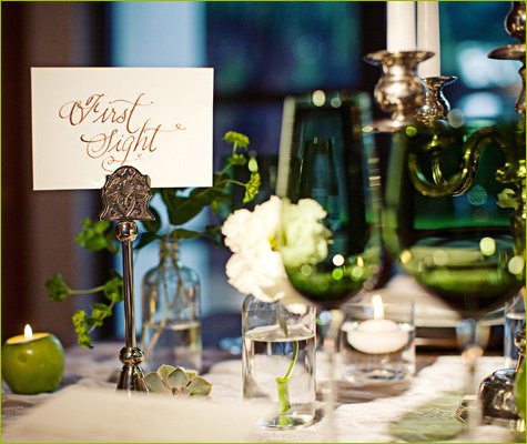 Twilight Inspired Wedding Tablescape