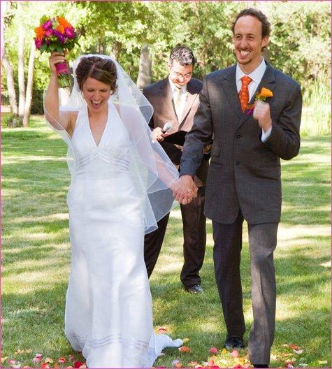 pink and orange summer wedding ideas