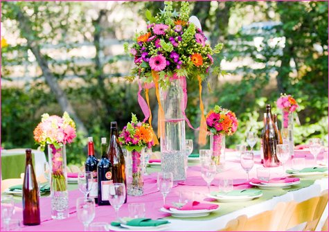 pink and orange summer wedding ideas