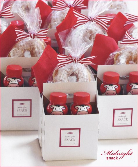 wedding guest gift baskets - midnight snack