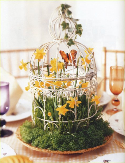 spring summer wedding centerpiece