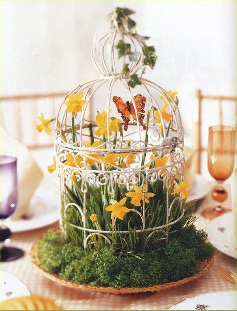 spring summer wedding centerpiece