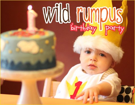 Where the Wild Things Are birthday party theme