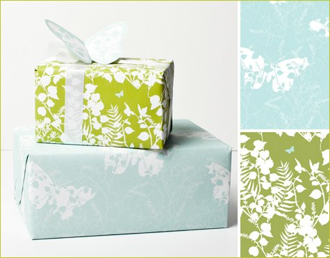 recycled gift wrap by Whimsy Press