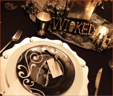 wicked bling halloween dinner party ideas