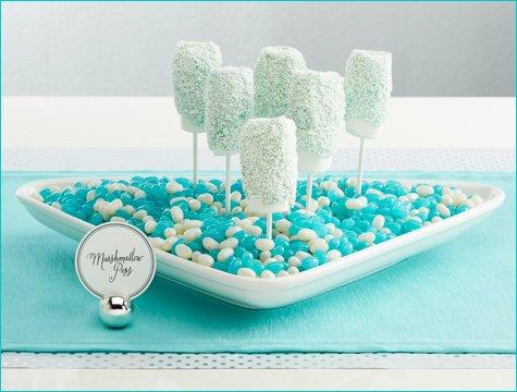 winter wonderland wedding dessert candy buffet