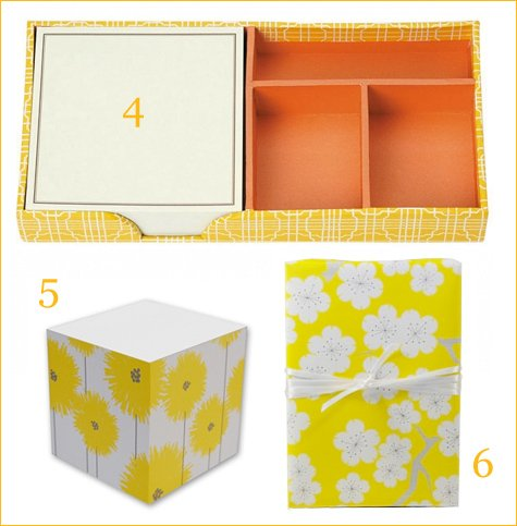 yellow stationery & gift ideas