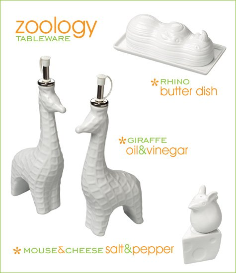 zoology tableware by boston warehouse