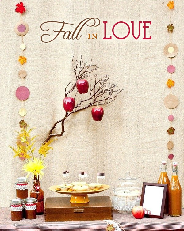 Gorgeous Autumn Apple Engagement Party // Hostess with the Mostess®