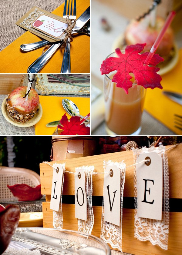 cute engagement party ideas at home. Fall Thanksgiving Engagement Party Ideas Gorgeous Autumn Apple  Hostess with the Mostess