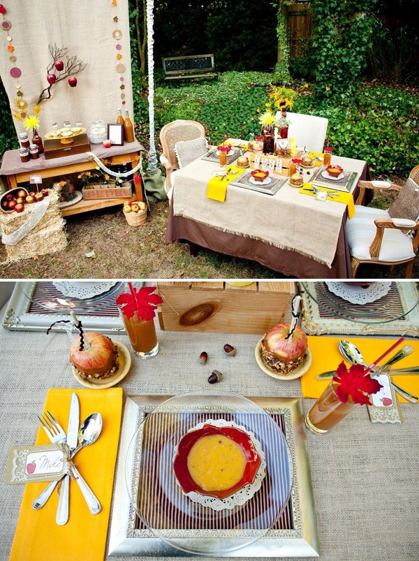 Fall Thanksgiving Engagement Party Ideas