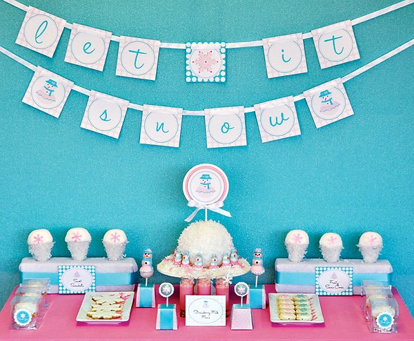 Glam Snowgirl Holiday Party Ideas