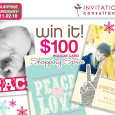 SURPRISE GIVEAWAY: Invitation Consultants