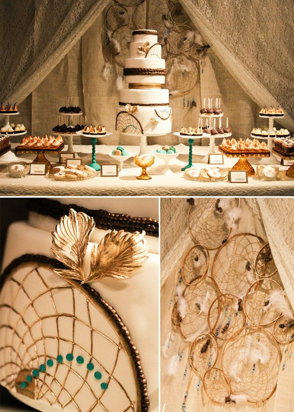 Bohemian Dessert Table – Miley Cyrus 18th Birthday