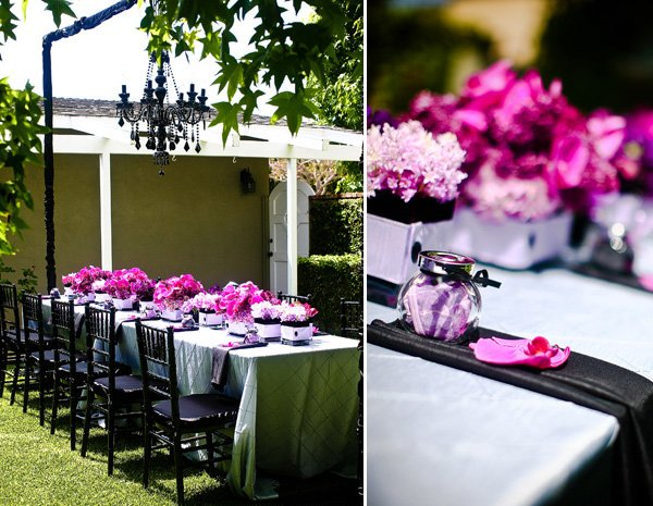 Purple & Black Bridal Shower Wedding