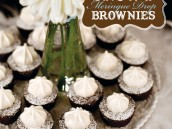 Snowy Meringue Drop Brownies Recipe