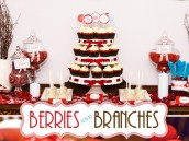 Berries and Branches Holiday Party Theme