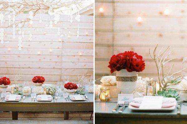 Christmas Dinner Party Wedding Ideas