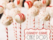 Candy Cane Cake Pops