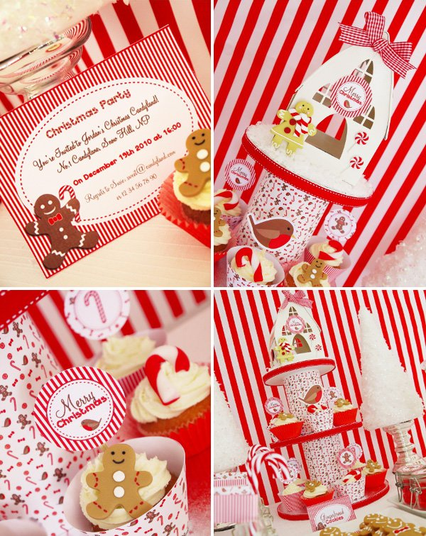Christmas Candyland Backdrop.A Festive Christmas Candyland Theme Hostess With The