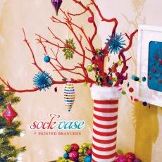 colorful modern Christmas centerpiece