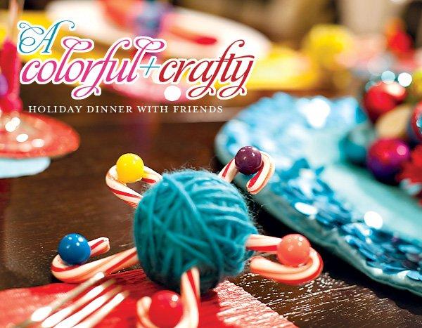 colorful crafty Christmas table ideas