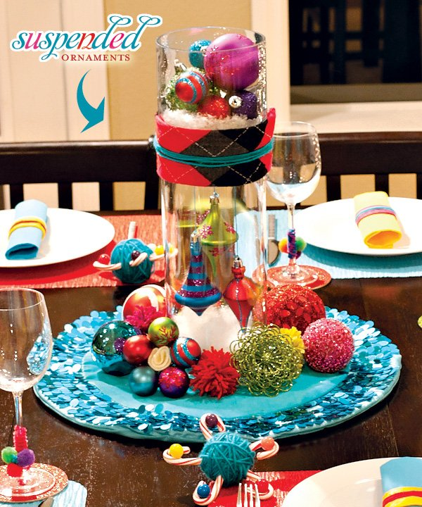 A Colorful Crafty Christmas Table Hostess With The Mostess & Extraordinary Colourful Table Settings Pictures - Best Image Engine ...