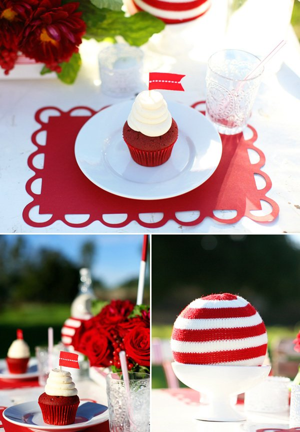 Red and White Christmas Table Ideas