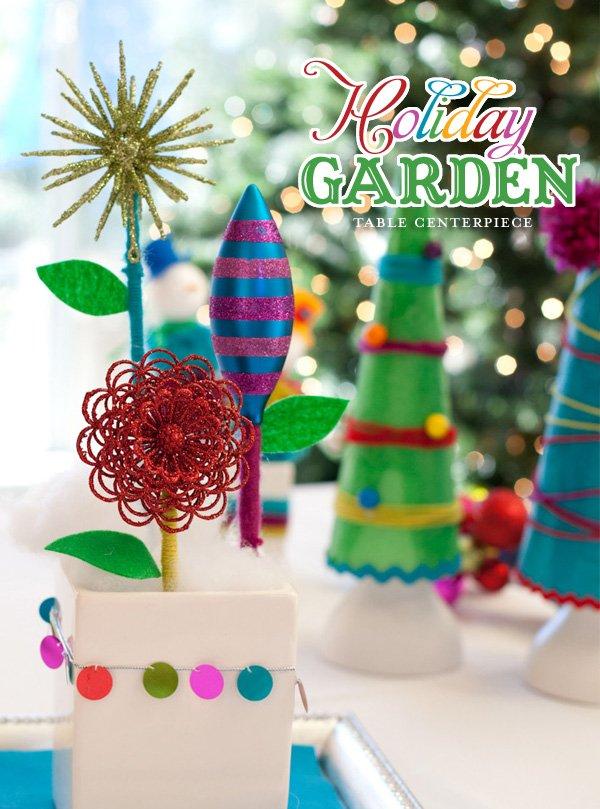 modern holiday centerpiece idea