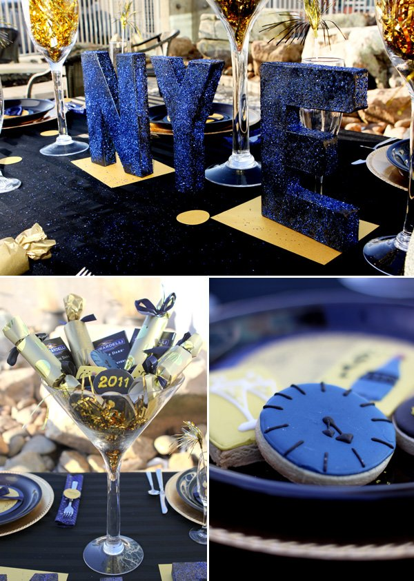 """A Sparkly """"Midnight"""" Dinner Party for NYE // Hostess with ..."""