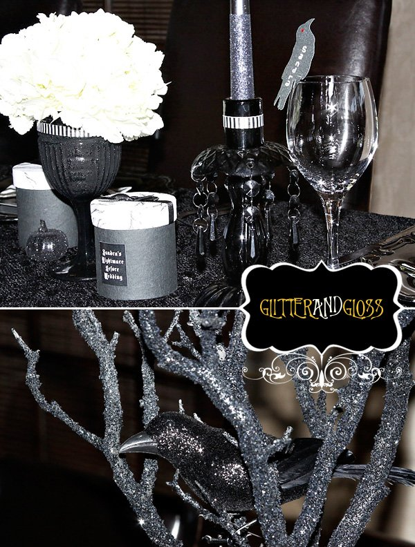 Nightmare before christmas wedding shower hostess with the mostess nightmare before christmas wedding bridal shower solutioingenieria Gallery