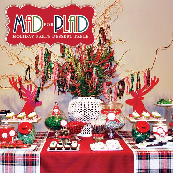 Christmas Dessert Party Ideas Part - 37: Plaid Christmas Party Ideas