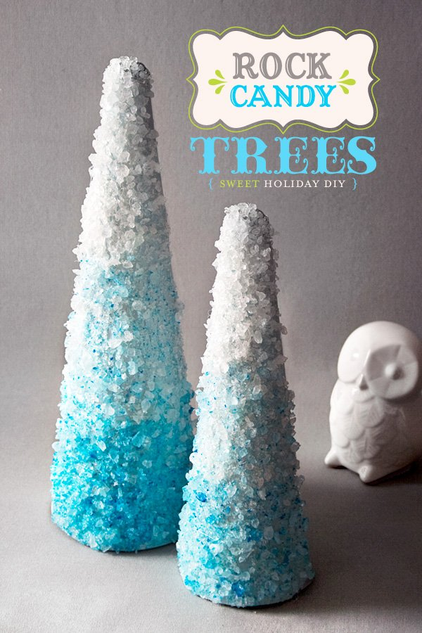 Rock Candy Christmas Tree Craft
