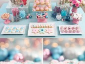 Pastel Pink & Blue Christmas Party Ideas