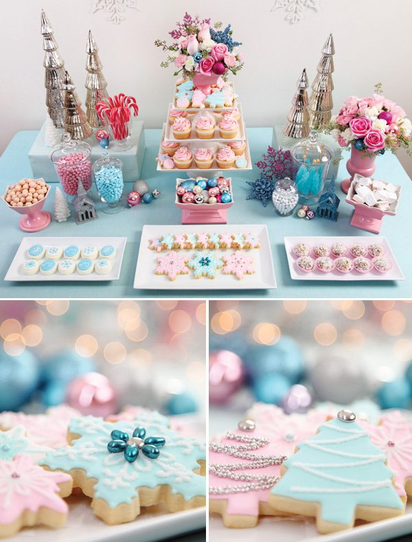 A Vintage Pastel Christmas Dessert Table Hostess With The Mostess