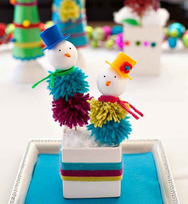 holiday snowman kids craft