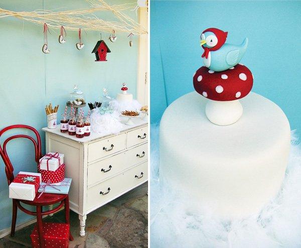 bird themed party shower ideas