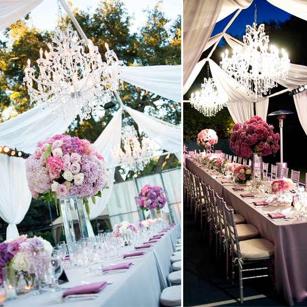 glam wedding ideas purple pink