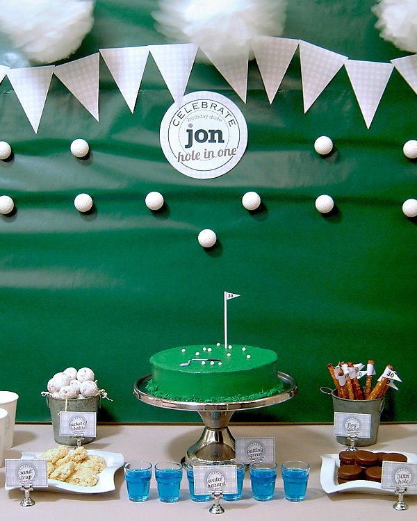 Golf Course Wedding Ideas: REAL PARTIES: Golf Themed 30th Birthday // Hostess With