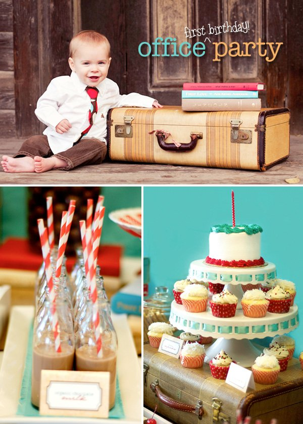 Office Themed Boy First Birthday Party