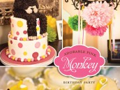 Pink Monkey Birthday Party