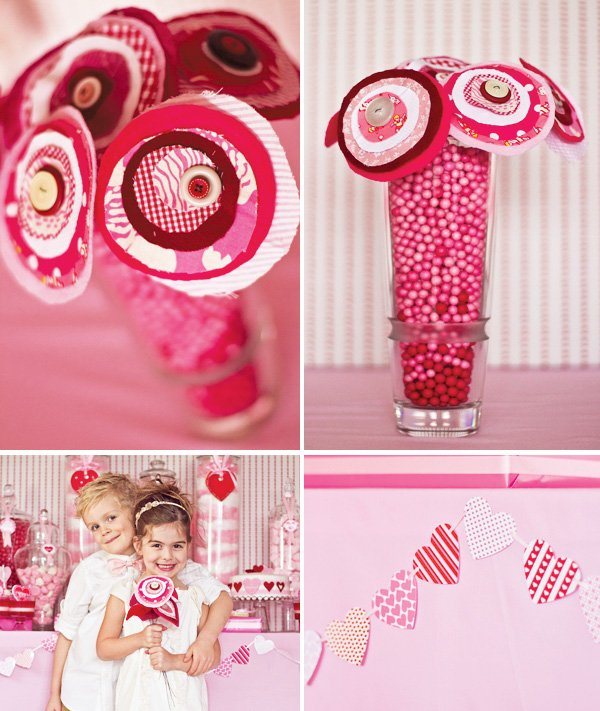 pink and red valentine's day party ideas