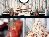 vintage snow white dessert table