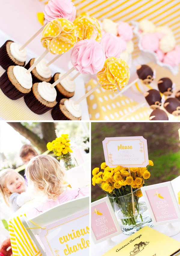 Curious Charley Cupcakes, Toppers, and Monkey Cake Pops